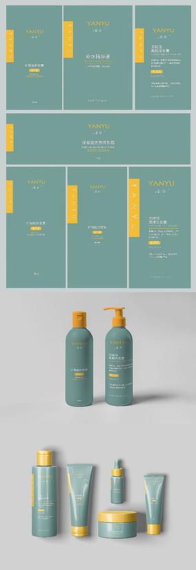 绿色洗护用品一套包装设计
