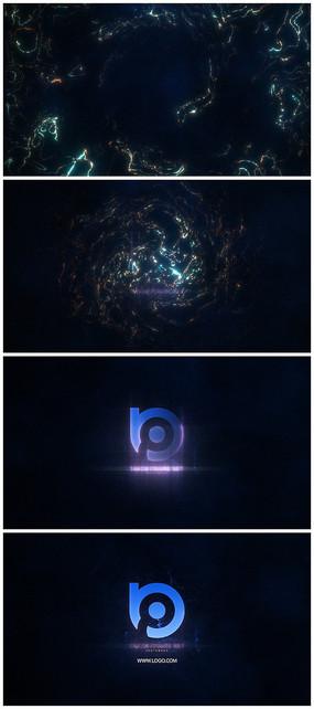 唯美水源汇聚logo视频模板