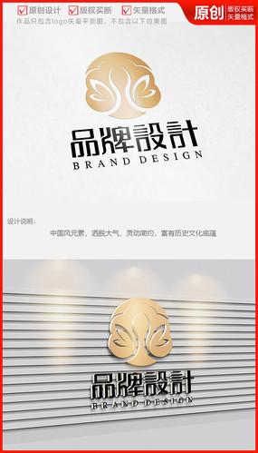 莲花美容美体化妆品生态品牌logo商标志