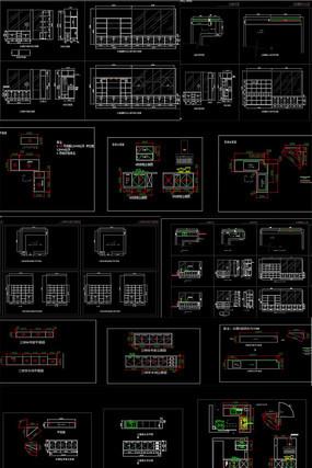某办公楼木制家具设计方案图