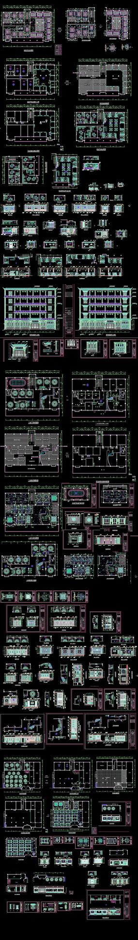 休闲餐厅CAD施工图