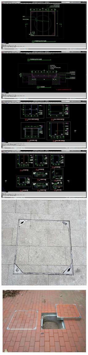 隐形井盖装饰井盖CAD施工图