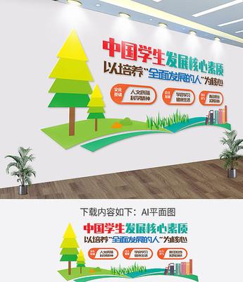中国学生发展核心素养校园文化墙
