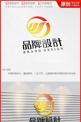 川字体飞鸟水流科技公司logo商标志