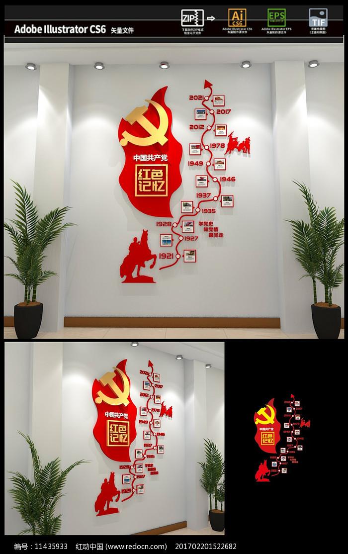 党的历程党史党建文化墙图片
