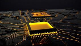 科技芯片开场片头logo
