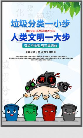 社区垃圾分类海报设计