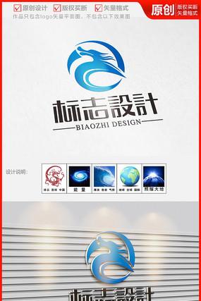飞龙在天科技网络传媒公司logo商标志