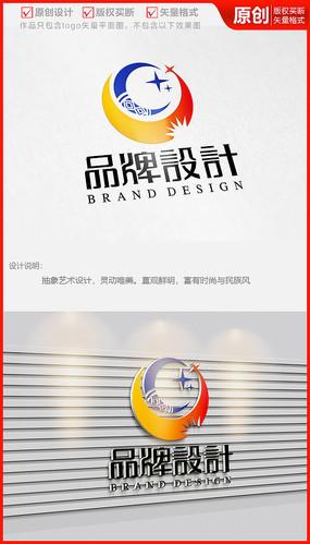 少数民族风图案旅游街品牌logo