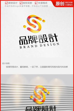 字母S科技立体简约国际公司logo商标志