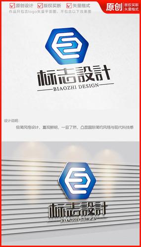 电子电器字母E科技公司企业logo商标志