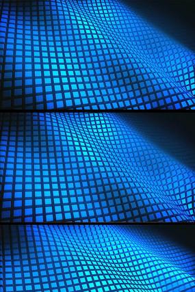 蓝色方块动态视频背景