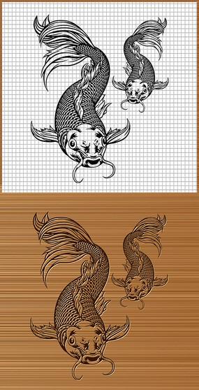 鲤鱼矢量图案