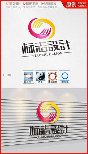 太极双手循环环保科技公司企业logo
