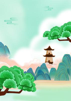 中国风清明端午节背景