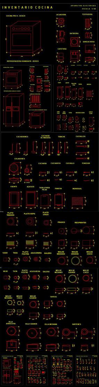 厨房用品CAD图库