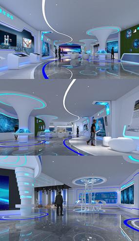 科技展厅max模型