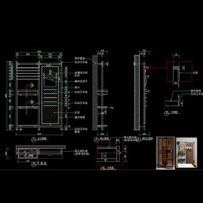 现代家具装饰柜装饰架CAD柜子图库