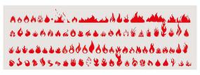 火焰火苗火纹火轮廓矢量图