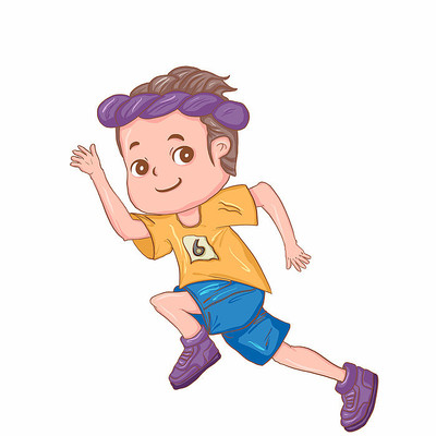 运动员奔跑手绘插画