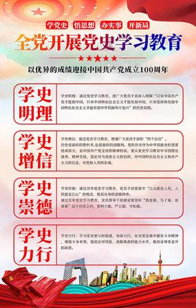 七一建党节建党100周年党史学习教育展板