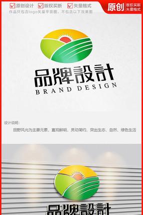 绿色生态农业产品公司企业logo商标志