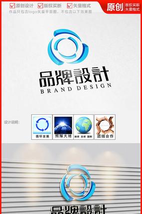 网络科技立体公司企业logo商标志