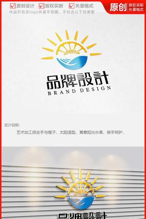 鲜果水果蔬菜超市种植果园农业公司logo