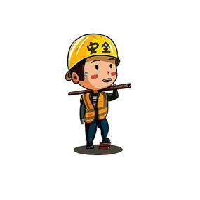 原创五一劳动节Q版人物系列-建筑工人