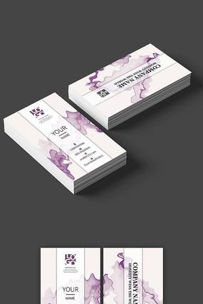 紫色高档中国风名片