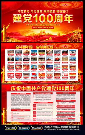 七一建党100周年党的光辉历程宣传栏