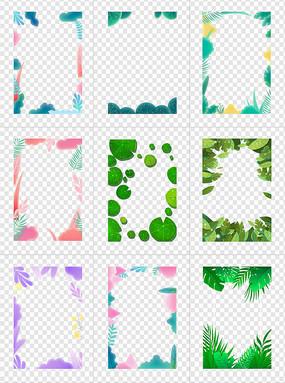 植物叶子边框