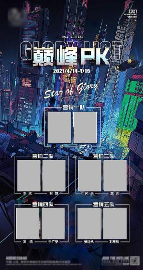 酒吧业绩PK海报