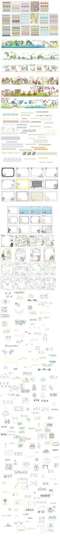 CAD卡通花纹图库