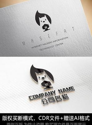松鼠logo标志房地产商标设计
