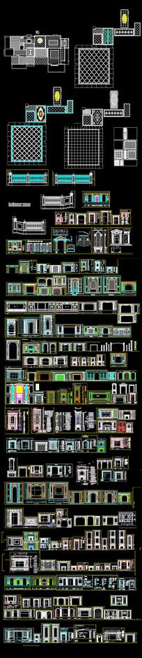 CAD背景墙总图