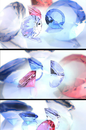 彩色宝石婚庆婚礼特效视频