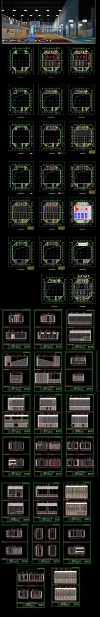 篮球场体育场施工图