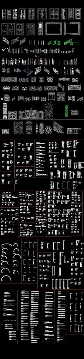 中式构件花纹图案