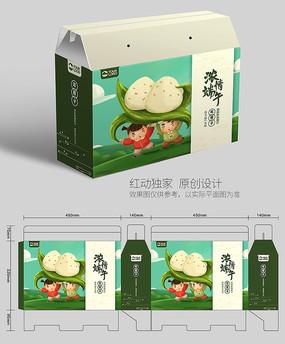 端午节插画粽子包装设计