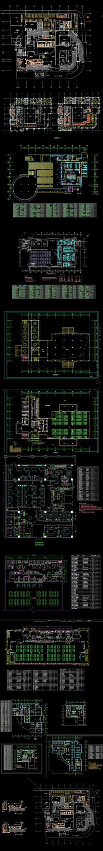 大型餐厅施工图