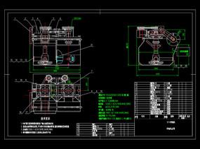 浮选机总图CAD机械图纸
