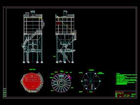 钢灰库设备布置总图CAD