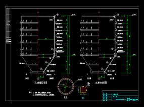 钢结构仓筒机械CAD图纸