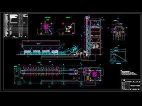 干排渣系统设备平立面CAD布置图