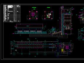 干排渣系统设备平立面布置图机械CAD图纸