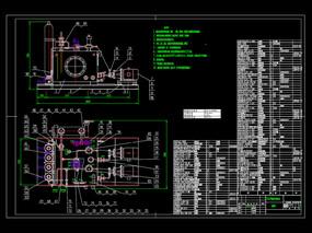 高炉液压系统装配CAD机械图纸