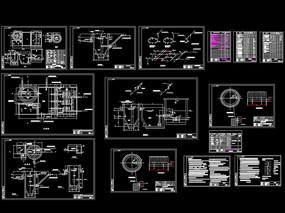 高炉渣粒化工程设施布置图CAD机械图纸