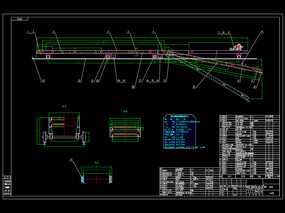高台式装车机总图CAD机械图纸