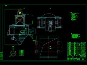 高效空气选粉机CAD机械图纸